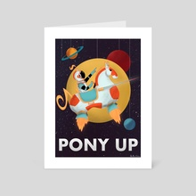 pony up - Art Card by Amanda Cotan
