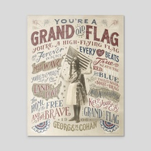 You're a Grand Old Flag - Acrylic by The Union Archive