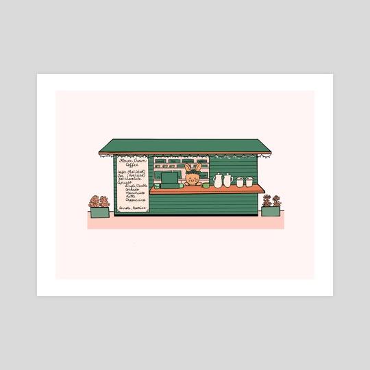 Flower Crown Coffee Shop by Jean Mucks