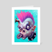 ZEDHEADZ - EarWorm - Art Card by Sal Cloak