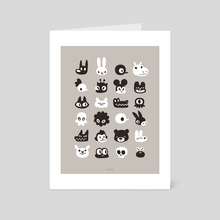 Meet lots of different people :) - Art Card by Dominique Ferland