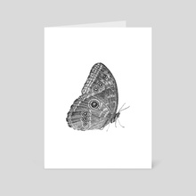 Owl Butterfly - Art Card by WickedIllusion