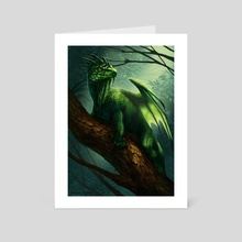 Flying forest dragon - Art Card by Motom Hatono