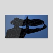 TRIBES | Eagle - Acrylic by Mario Hounkanrin