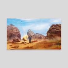 The Lion and the Kid - Canvas by Johann BLAIS