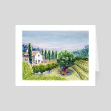 French vineyard - Art Card by Carl Conway