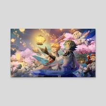 Butterfly's Dream - Acrylic by Allenerie