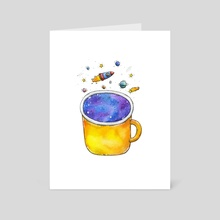 Space Cup - Art Card by Tania S