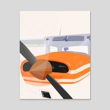 Cessna 152 Portrait  - Acrylic by Emanuele Borasco