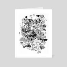 Owl in garden - Art Card by Galeria Ginkgo