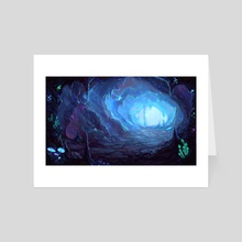Mushroom cave - Art Card by Aszith / Lya
