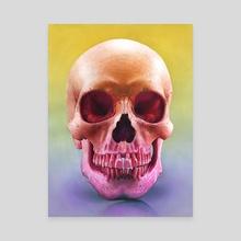 Skull Study - Canvas by Morgan Davidson