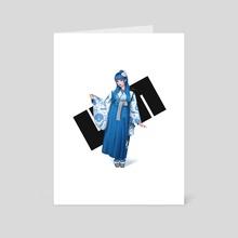 Hakama Umigirl - Art Card by KAI (umigraphics)