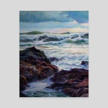 Intertidal Evening - Canvas by Jordan K Walker
