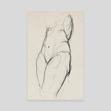 Female Study - Canvas by Sebastián Ramírez Sánchez