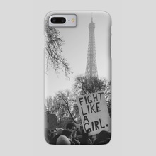 Fight Like a Girl - Phone Case by Kate Cusick