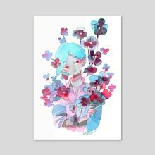 Blue - Acrylic by koyamori