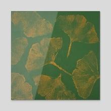 Ginkgo Leaves - Acrylic by Jordi Naczi
