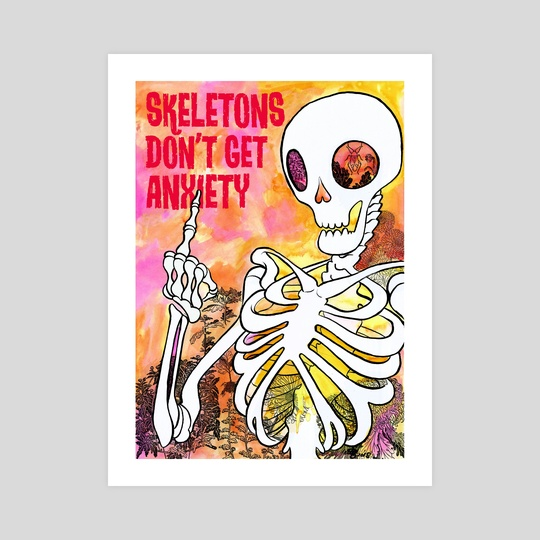 Anxiety Skeleton by Letty Wilson