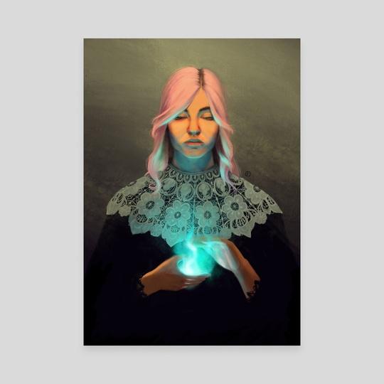 The Blue Fire Witch by Pilar Celda