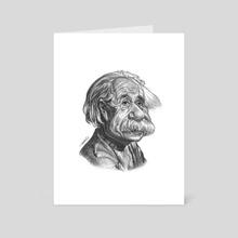 Albert Einstein - Art Card by Priyatham Sri
