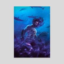 Aquaman - Canvas by Marischa  Fanarts