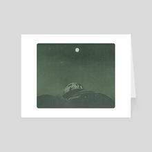 distant moon - Art Card by karen shangguan