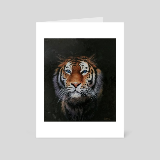 Oil tiger by Cristian Gutierrez