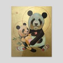 The Panda - Acrylic by Igor Ponochevny