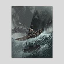 Leviathans - Acrylic by Steven Don Espinoza