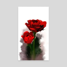 Rose Watercolor 1 - Canvas by Archv Rit