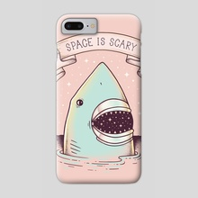Space is Scary - Phone Case by Enkel Dika