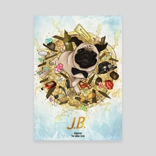 JB the Pug - Canvas by Xav DRAGO