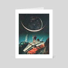It will be a whole New World - Art Card by Frank  Moth