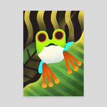 Frog - Canvas by Rod Perich