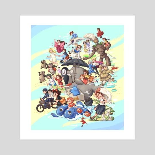 Ghibli Movies Fanart by Abigail Tan