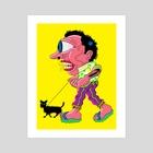 Dog Walker - Art Print by Matthew Panuska