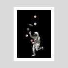 Astronaut Juggler. - Art Print by Fanitsa Art