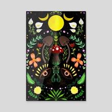Magical Forest  - Acrylic by Sara Di Lella