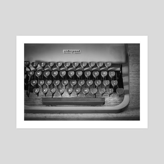 Typewriter With Dust by Brenda Hernandez