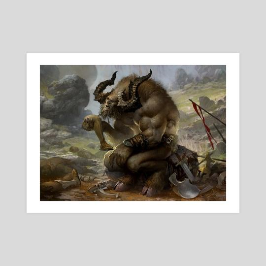 Pensive Minotaur by Svetlin Velinov