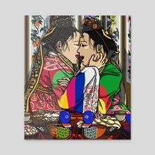 The Modern Wedding (Wives) - Acrylic by J. Kim