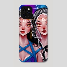 Gemini  - Phone Case by Muzenik  Art