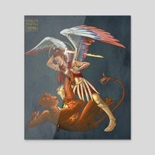 St  Michael  - Canvas by Foolish Mortal