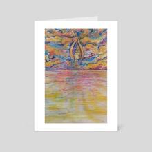 Sun Goddess Meditation  - Art Card by Sarah Blakeman