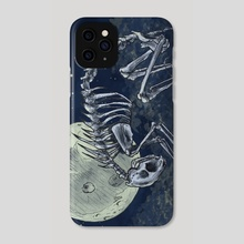 Cat Skeleton - Phone Case by Victoria Dye