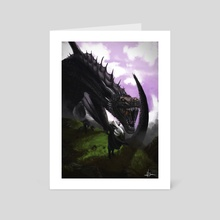 Girl and Dragon - Art Card by Efrain Sosa