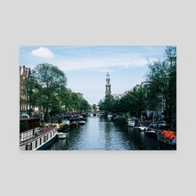 Down the Canal - Canvas by Alex Tonetti