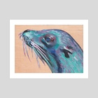 Sea Lion - Art Print by Deborah Rose Guterbock