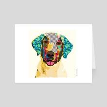 Labrador mania - Art Card by Marcia Pinho